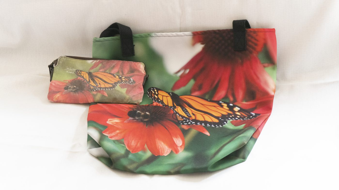Red Sunflower, Butterfly and Bee (The Grange, Brooklyn, NY) - tote bag and clutch